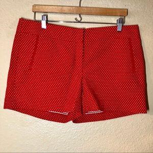 Cynthia Rowley Red Polka-Dot Shorts, Size 12